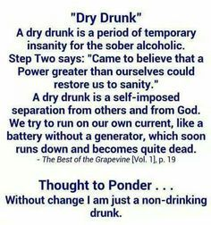 Dry Drunk Syndrome