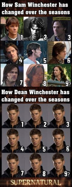 The evolution of the Winchester boys...  #Supernatural #Sam #Dean