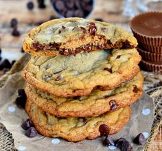 Reeses Stuffed Giant Chewy Chocolate Chip Cookies