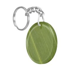 Palm Tree Leaf Keychain