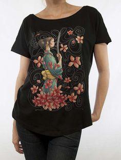 Samurai Negra 91 Samurai, Madrid, T Shirts For Women, Woman, Mens Tops, Fashion, Moda, Fashion Styles, Fasion