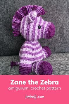FREE pattern! Zane the Zebra Amigurumi Pattern #amigurumi #freepattern #crochet