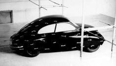 OG | 1949 Saab 92 | Mock-up in Wind-tunnel test. The Cd was 0.32.
