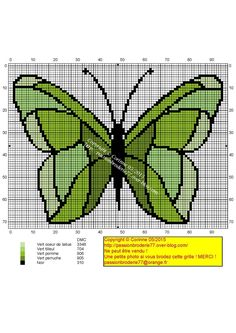 Stained green butterfly