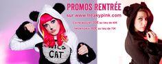 Promo en cours sur le site: http://www.freakypink.com/17-promos.html