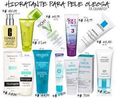 Seleção com preços de hidratante facial para peles oleosas