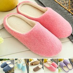 Men Womens Winter Soft Warm Indoor Slippers Home Slipper Autumn Shoes Non-slip