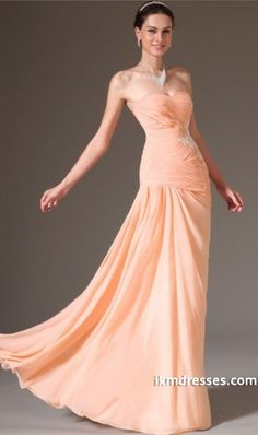 http://www.ikmdresses.com/2014-Sweetheart-Pleated-And-Fitted-Bodice-Prom-Dress-With-Applique-Sheath-Floor-Length-Chiffon-Dress-p84637
