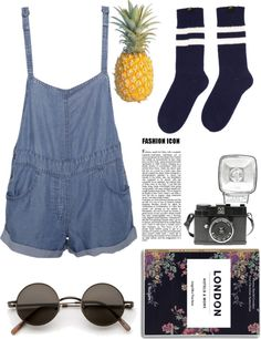 """7:40"" by clarewigney ❤ liked on Polyvore"