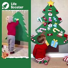 Excellent DIY Felt Christmas Tree (Greatest Present for Children.) The most effective DIY felt Christmas . Diy Felt Christmas Tree, Christmas Trees For Kids, Easy Christmas Crafts, Christmas Projects, Christmas Decorations Diy For Kids, Homemade Christmas, Christmas Crafts For Kids To Make Toddlers, 3 Kids, Christmas Toddler Activities