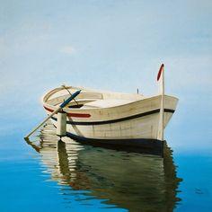 Resultado de imagen de mural bote de madera en mar gallego