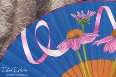 @todo color: Equinaceas Decoupage, Hand Fan, Fans, Videos, Color, November 2, Painted Fan, Hearts Of Palms, Umbrellas Parasols