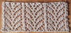 Snug: a free lace knitting stitch pattern