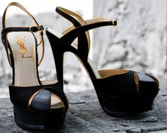 YSL black pumps, oohhh thank you! Dream Shoes, Crazy Shoes, Me Too Shoes, Ysl Heels, High Heels, Ysl Sandals, Shoes Heels, Black Sandals, Black Stilettos
