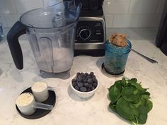 Link's Protein Smoothie Ingredients: Almond Milk - just guess how much to pour, then adjust for next time Vanilla Protein Powder - one scoop (or two for huger muscles) A handful of frozen blueberries A big ole scoop of peanut butter (or almond butter) A handful of spinach (spinnage) - also use some to clean off the peanut butter spoon Optional ingredients: Half a handful of walnuts, hemp seeds, chia seeds, or an avocado laying around.