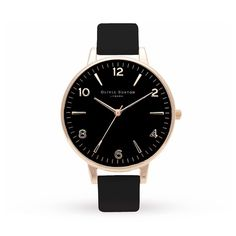 Olivia Burton Black Dial & Rose Gold OB15EX52 | Ladies Watches | Watches | boutique.Goldsmiths
