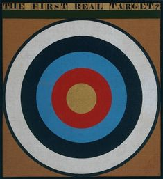 The First Real Target (1961) by Peter Blake born 1932