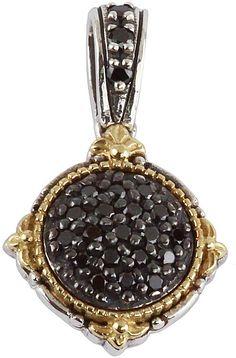 Konstantino Asteri Petite Oval Pave Black Diamond Pendant qfNhun0Lq