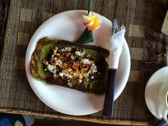 Breakfast at Puri Cantik Bungalow prepared by Anak Agung Dewi