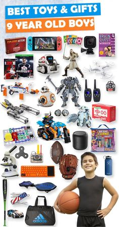 Tons of great gift ideas for 9 year old boys.