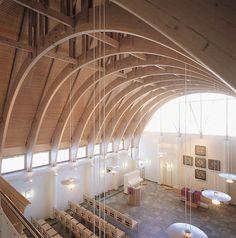 Maria's chappel, built in 1999. Architect: Hannele Arantola Marian Kappeli