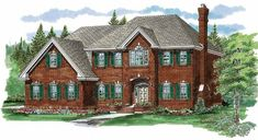 Cottage House Plan with 3015 Square Feet and 4 Bedrooms(s) from Dream Home Source | House Plan Code DHSW35571