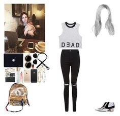 """""""Coffee with Gemma.(Niall's BF)"""" by asma-d ❤ liked on Polyvore featuring Chanel, Rodarte, Hermès, Givenchy, Michael Kors, NARS Cosmetics, Cartier, Jules Smith and Topshop"""