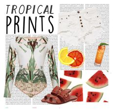 """""""TROPICAL PRINTS"""" by bruna-cortes ❤ liked on Polyvore featuring Oris, ADRIANA DEGREAS, Cole Haan, tropicalprints and hottropics"""