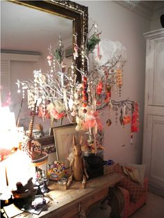 The giving tree!  The tree is dripping with beautiful decorations, jewellery and hair accessories