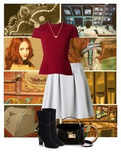 Nancy Drew: The Haunted Carousel by nightwatchman54 on Polyvore featuring polyvore, fashion, style, Roland Mouret, By Malene Birger, Jimmy Choo, Rebecca Minkoff, Marc by Marc Jacobs, Stella & Bow, Origins, Retrò and clothing