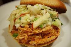 Apple Cider Pulled Chicken. I want to try this!