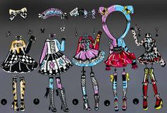 CLOSED- 10 pack of clothes by Guppie-Vibes on DeviantArt Cartoon Outfits, Anime Outfits, Make Your Own Character, Fantasy Queen, Disney Doodles, Nerd Fashion, Fashion Art, Drawing Anime Clothes, Clothing Sketches