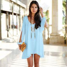 Летнее платье свободного покроя, материал шифон Большое количество размеров и цветов.