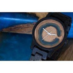 Modrá Wood Watch, Watches, Accessories, Wooden Clock, Clocks, Clock, Ornament
