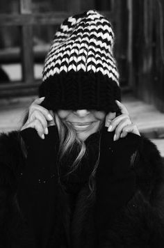 Black. White. Smile.