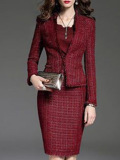 Business Outfits, Office Outfits, Office Dresses, Traje Casual, Suits For Women, Clothes For Women, Elegant Outfit, Party Fashion, Outfit Sets