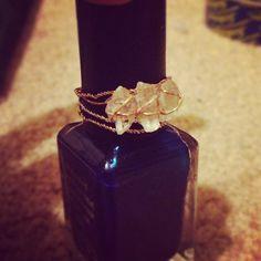 Homemade crystal quartz ring