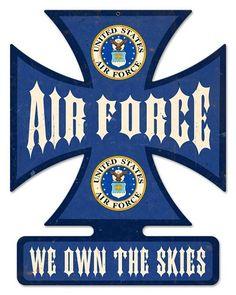 Air Force Cross Vintage Metal Sign