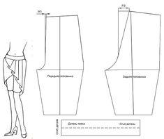 Pattern Skirt Shorts. Выкройка юбка-шорты.