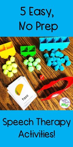 Simple, no prep speech therapy activities to keep your students engaged during your sessions! Speech & language therapy does not … Speech Therapy Toddler, Speech Therapy Autism, Preschool Speech Therapy, Speech Language Therapy, Preschool Songs, Aba Therapy Activities, Autism Activities, Articulation Activities, Toddler Speech Activities