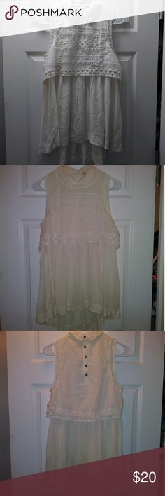 """Free People Top Length: 30"""" button closure at back Free People Tops"""