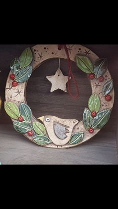 Clay Christmas Decorations, Christmas Craft Show, Christmas Clay, Hand Built Pottery, Pottery Art, Clay Projects, Clay Crafts, Polymer Clay Owl, Pottery Handbuilding