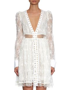 Esplanade Empire macramé-lace dress | Zimmermann | MATCHESFASHION.COM UK