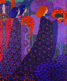 Art Nouveau, Art Deco, Illustrator, Art Textile, Italian Painters, Gustav Klimt, Italian Art, Whimsical Art, Art Plastique