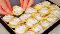 Ravioli, Pretzel Bites, Camembert Cheese, French Toast, Deserts, Paleo, Food And Drink, Bread, Breakfast