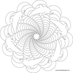 Dolphin Mandala, Animal Mandala Pictures to Color, Mandala coloring Pages, Pattern Mandala, Free Printable Mandala Coloring Pages, Flower Mandala Black and White Template, lineart, mandala, printables, cool teen craft