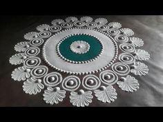 |SIMPLE AND BEAUTIFUL SANSKAR BHARTI RANGOLI DESIGN TUTORIAL 1|संस्कारभारती रांगोळी SOUL WITH GENIE - YouTube Simple Rangoli Border Designs, Easy Rangoli Designs Diwali, Rangoli Simple, Indian Rangoli Designs, Rangoli Designs Latest, Rangoli Designs Flower, Free Hand Rangoli Design, Rangoli Designs With Dots, Beautiful Rangoli Designs