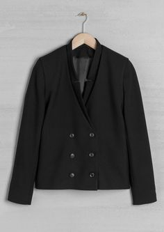 Double-Breasted Blazer   Black   & Other Stories