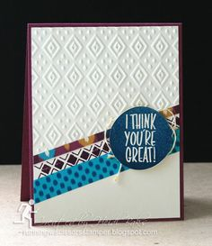 Stampin' Up  Bohemian Borders, I Think You're Great by #RunningwScissorsStamper