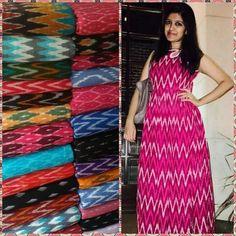 :) Get an off on placing your order today!Image may contain: 1 person Kalamkari Dresses, Ikkat Dresses, Churidar Designs, Kurta Designs Women, Stylish Dresses, Fashion Dresses, Dress Neck Designs, Blouse Designs, Frock For Women